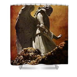 Stop In The Name Of God Shower Curtain by Susanne Van Hulst