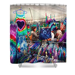 Storefront - Tie Dye Is Back  Shower Curtain by Mike Savad