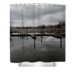Storm Brewing In The Early Season Shower Curtain by Karol Livote