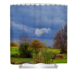 Shower Curtain featuring the photograph Storm Cell by Kathryn Meyer