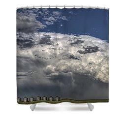 Storm Clouds Thunderhead Shower Curtain by Mark Duffy