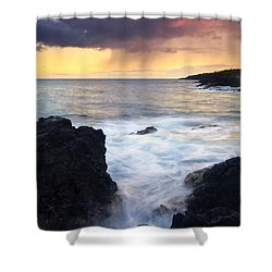 Storm Fissure Shower Curtain by Mike  Dawson