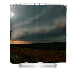 Shower Curtain featuring the photograph Storm Front by Debbie Portwood