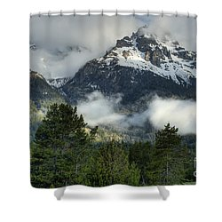 Storm  In The Tetons Shower Curtain by Sandra Bronstein