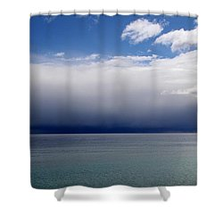 Storm On The Horizon Shower Curtain by Davandra Cribbie