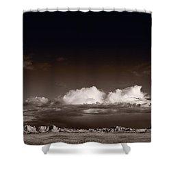 Storm Over Badlands Shower Curtain by Steve Gadomski