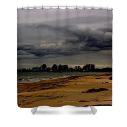 Storm Rolls In Shower Curtain by Heidi Smith