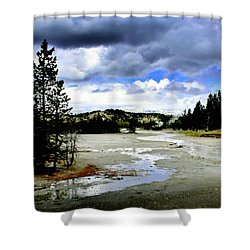 Stormclouds Over Norris Basin Shower Curtain by Ellen Heaverlo