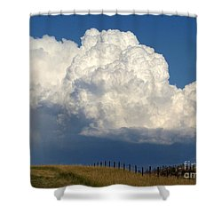 Storm's A Brewin' Shower Curtain by Dorrene BrownButterfield