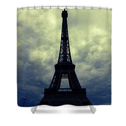 Stormy Day In Paris Shower Curtain by Carol Groenen