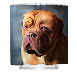 Stormy Dogue Shower Curtain by Michelle Wrighton