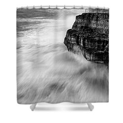 Shower Curtain featuring the photograph Stormy Sea 1 by Pedro Cardona