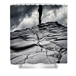 Stormy Silhouette Shower Curtain by Stelios Kleanthous