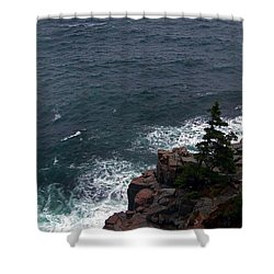 Straight Down Shower Curtain by Skip Willits