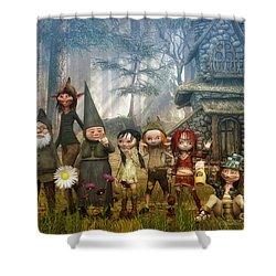 Strange Family Shower Curtain