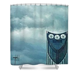 Strata Tower In London Shower Curtain