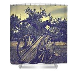 Straw Cart Shower Curtain by Joana Kruse