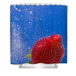 Strawberry Soda Dunk 4 Shower Curtain by John Brueske