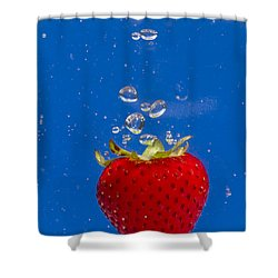 Strawberry Soda Dunk 6 Shower Curtain by John Brueske
