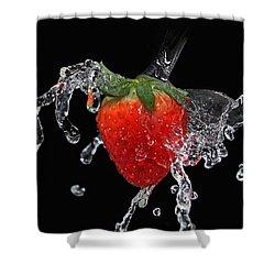 Strawberry-splash Shower Curtain