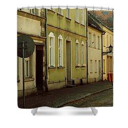 Street 2 Shower Curtain by Marcin and Dawid Witukiewicz