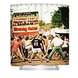 Street Dance Shower Curtain by Jessica Brawley