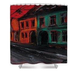Street In Transylvania 1 Shower Curtain by Mona Edulesco