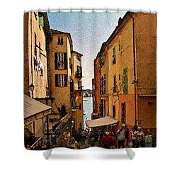Street In Villefranche II Shower Curtain