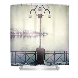 Street Lamp Shower Curtain by Joana Kruse