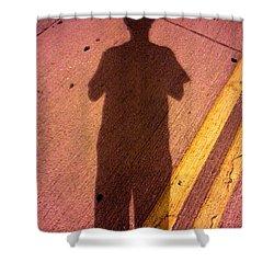 Street Shadows 001 Shower Curtain