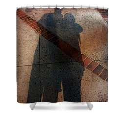 Street Shadows 002 Shower Curtain