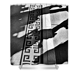 Street To Stone Shower Curtain by Empty Wall