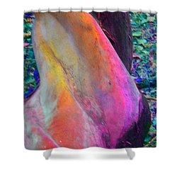 Shower Curtain featuring the digital art Stretch by Richard Laeton