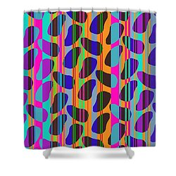 Stripe Beans Shower Curtain by Louisa Knight
