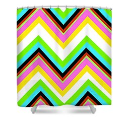 Stripe Shower Curtain by Louisa Knight