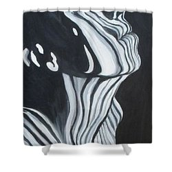 Shower Curtain featuring the painting Stripes by Julie Brugh Riffey
