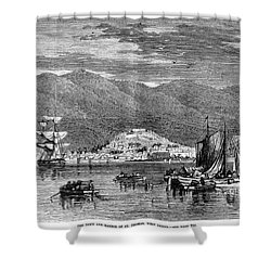 St.thomas, 1868 Shower Curtain by Granger