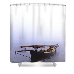 Stuck In Port Shower Curtain by Skip Willits