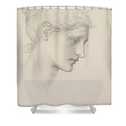 Study For Laus Veneria Shower Curtain by Sir Edward Burne Jones