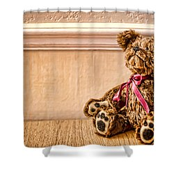 Stuffed Friend Shower Curtain by Heather Applegate