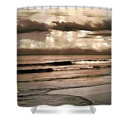 Shower Curtain featuring the photograph Summer Afternoon At The Beach by Steven Sparks