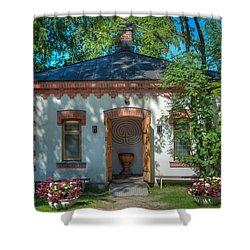 Summer Chapel Shower Curtain by Ari Salmela