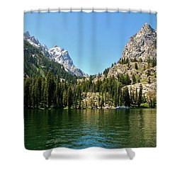 Summer Day At Jenny Lake Shower Curtain by Dany Lison