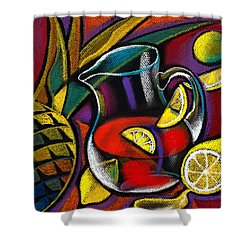 Summer Drink Shower Curtain by Leon Zernitsky