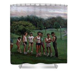 Summer Evening Meet Shower Curtain by Sarah Yuster