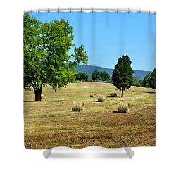 Shower Curtain featuring the photograph Summer Field by Paul Mashburn