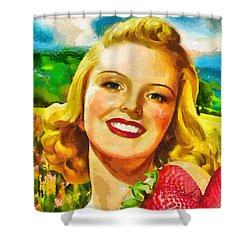 Summer Girl Shower Curtain by Mo T