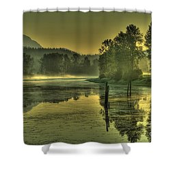Summer Morning Shower Curtain by Rod Wiens