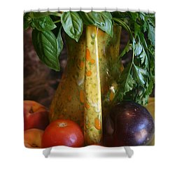 Summer's Bounty Shower Curtain by Kay Novy