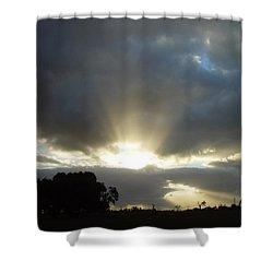 Sun Beams Shower Curtain by Paul Van Scott